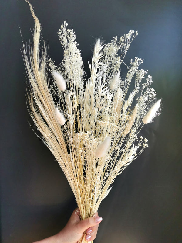 The 'Calming Whisper' Ivory Dried Flower Arrangement