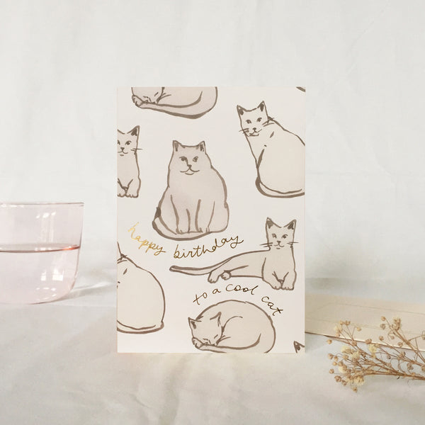 Wanderlust Birthday Cats Card