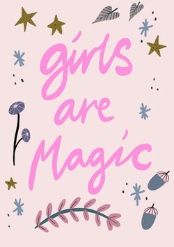 A4 House Of Encre Girls Are Magic print