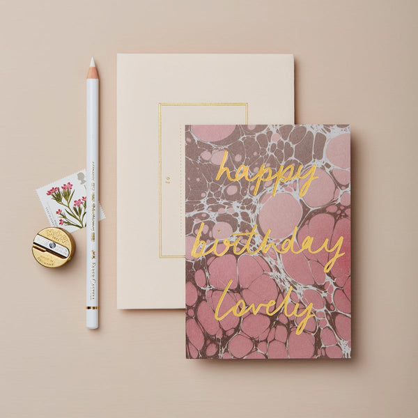 Wanderlust 'Happy Birthday Lovely' Card