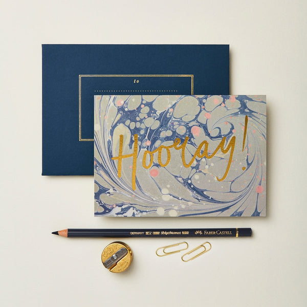 Wanderlust Marble 'Hooray' Card