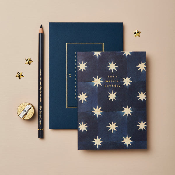 Wanderlust Navy Stars 'Magical Birthday' Card