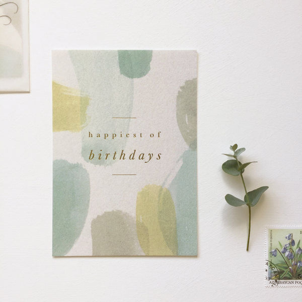 Happiest Of Birthdays  - Green Greeting Card