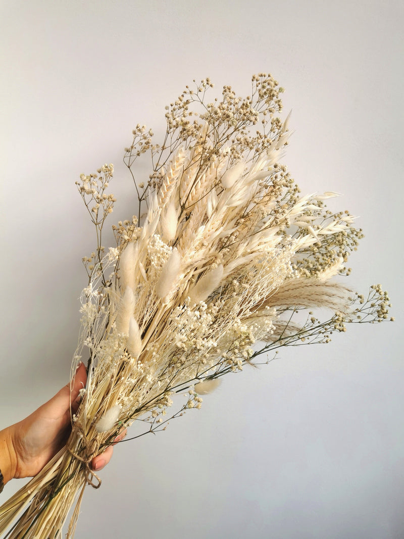 Ivory and Natural Dried Flower arrangement