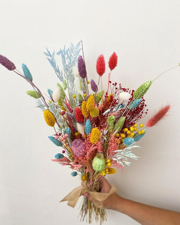 The Rainbow Dried Flower arrangement 🌈