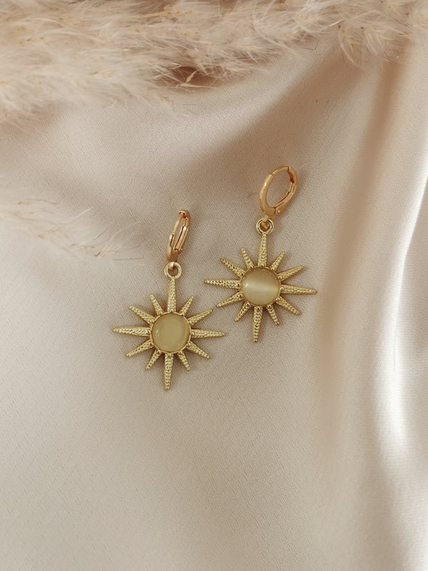 Golden Sun - 14k Gold Plated Huggie earrings