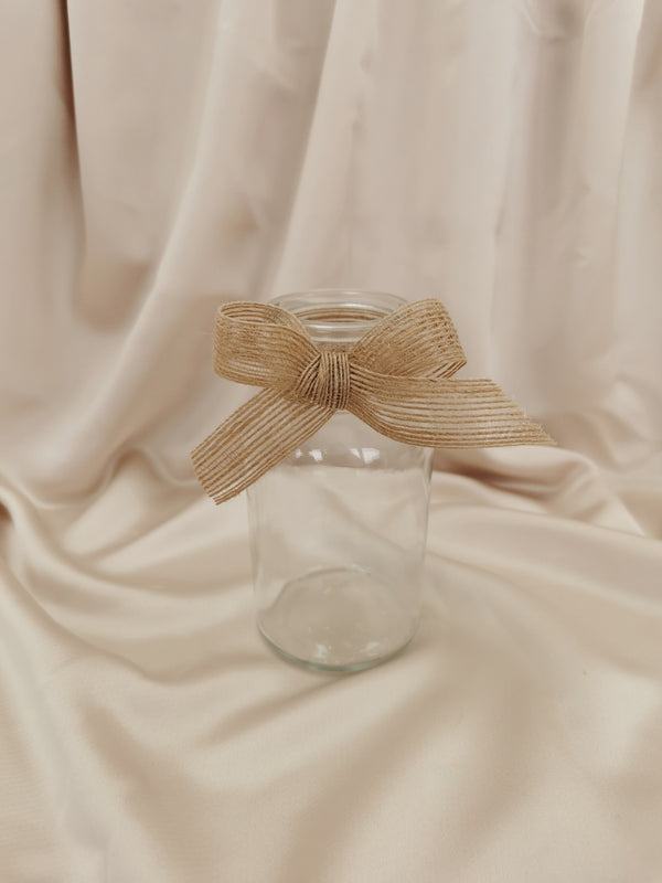 Mini Glass Vase with Ribbon