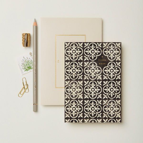 Wanderlust Ebony Tiles Little Note Card