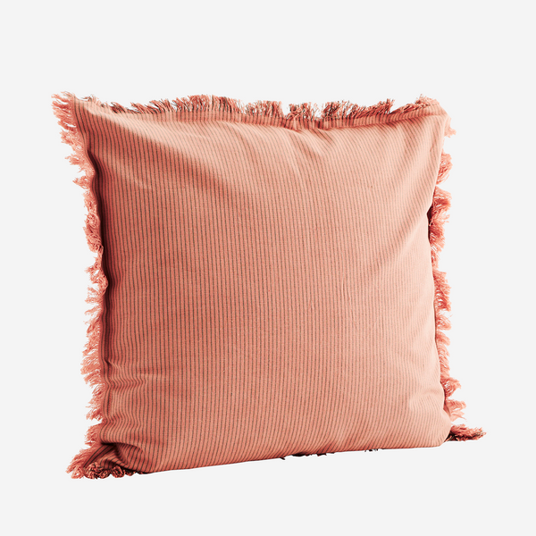 Rose Stripe Fringe Cushion - COVER ONLY