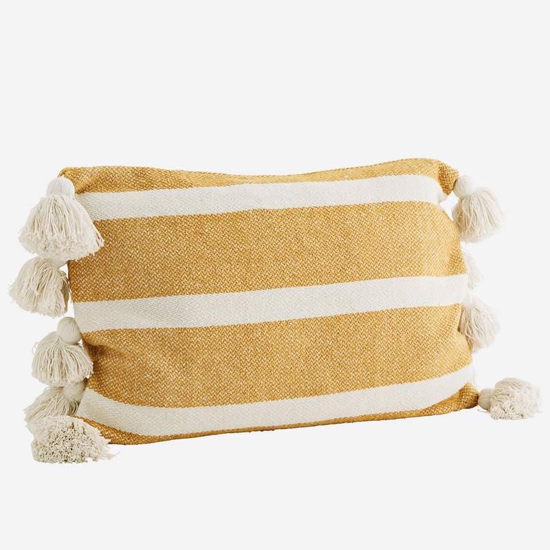 Honey Stripe Tassel Cushion  - COVER ONLY