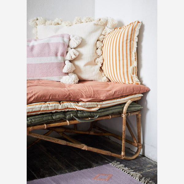 Dark Honey Candy Stripe Cushion - COVER ONLY