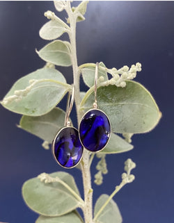 Ivy & Grace Adeline Earrings in Lapis Blue