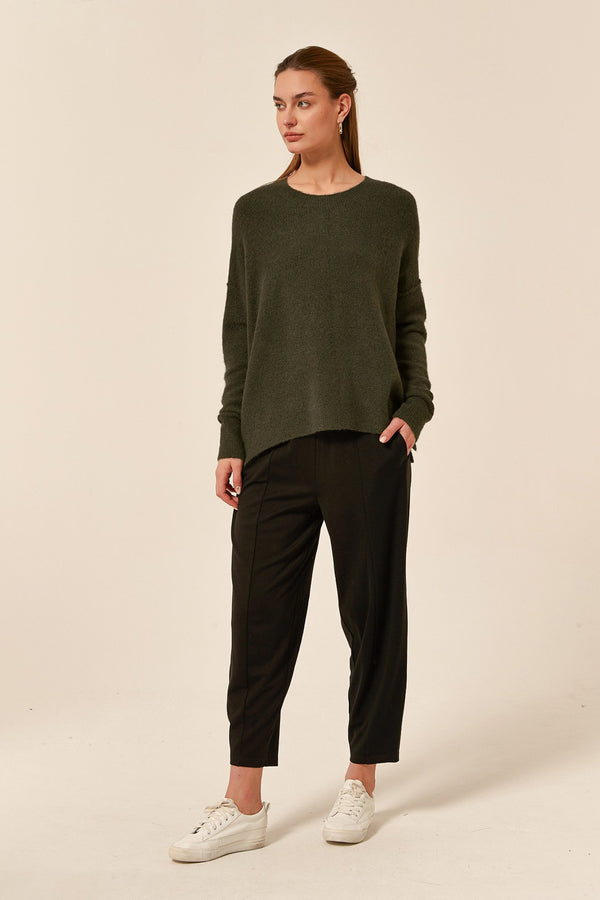 Tirelli Split Hem Knit Khaki