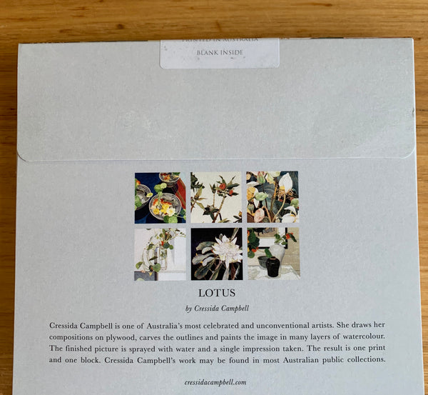 Card Pack Cressida Campbell Lotus