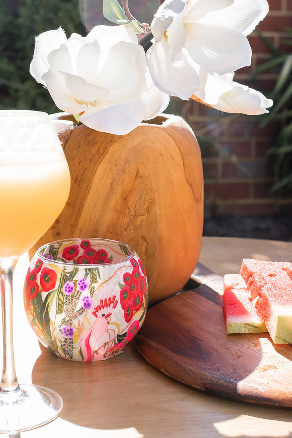 Flowering Gum Tealight Candle Holder
