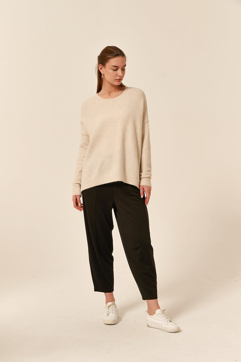 Tirelli Split Hem Knit Cream