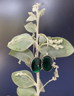 Ivy & Grace Adeline Earrings in Emerald Green