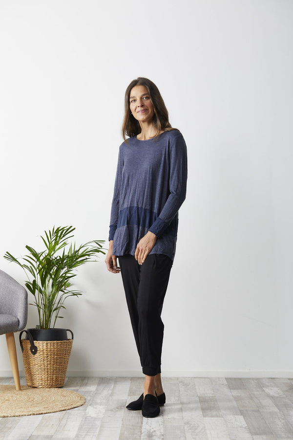 Vigorella Barossa Top Denim Blue