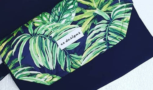 Dark Tropical Nappy Clutch