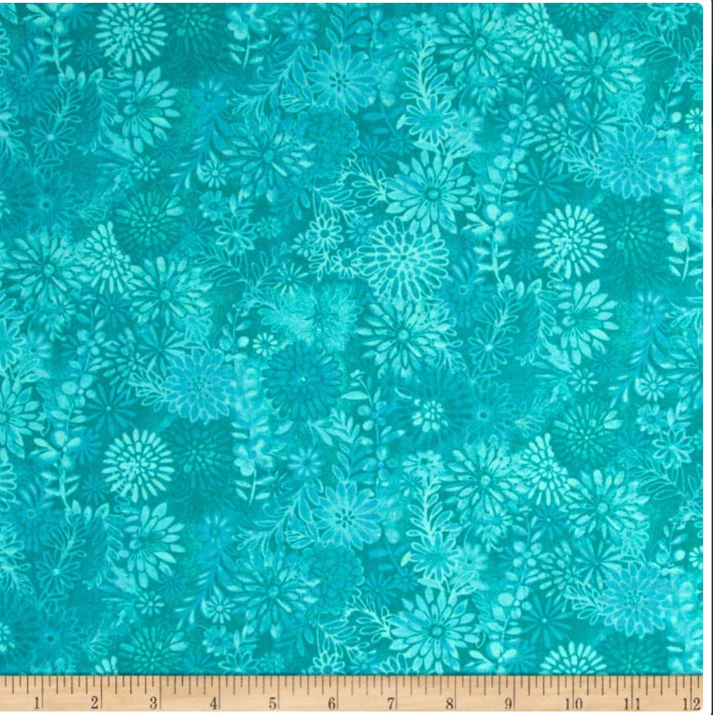 Turquoise baltic Nappy Clutch