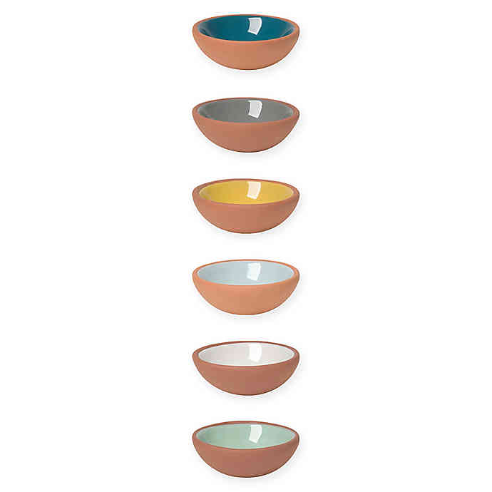 6 Terracotta Pinch Bowls - Three Wolves Provisions