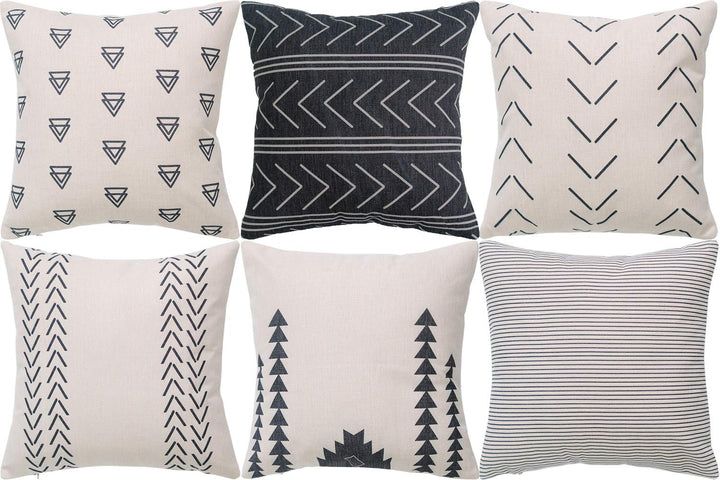 Six Throw Pillow Covers - Three Wolves Provisions