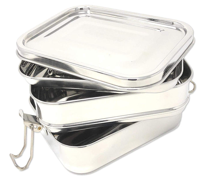 Stainless Steel 3-Layer Bento Box - Three Wolves Provisions