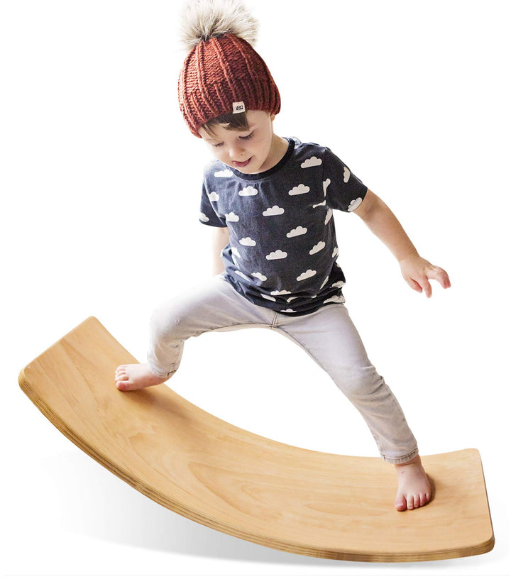 Wooden Wobble Balance Board - Three Wolves Provisions