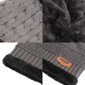Kids Winter Warm Knit Beanie and Scarf - Three Wolves Provisions