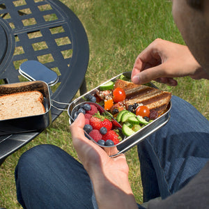 Stainless Steel 3-in-1 Bento Lunch Box - Three Wolves Provisions