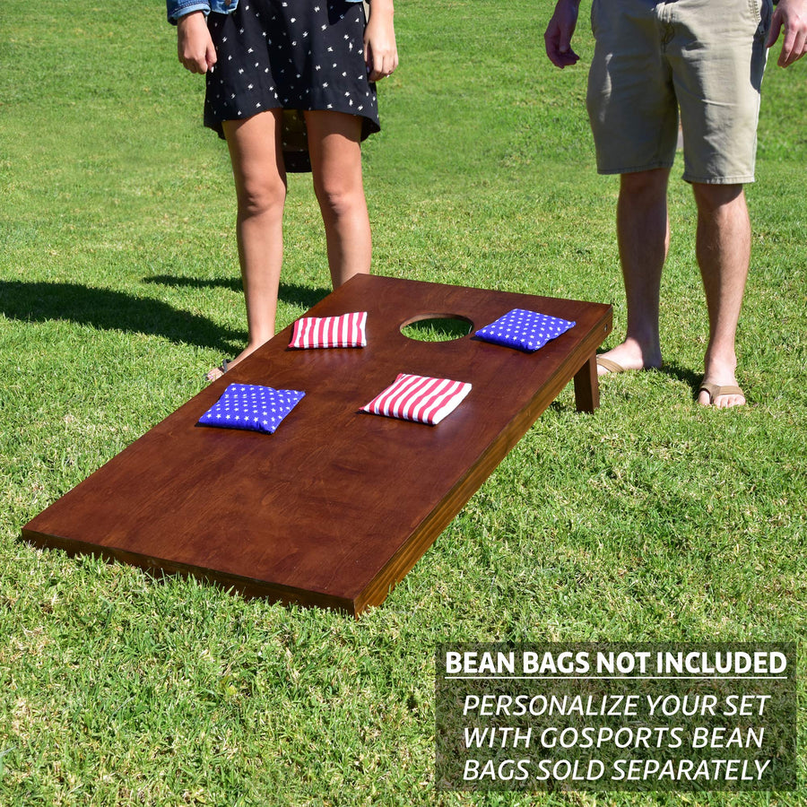 Stained Wooden Cornhole Set - Three Wolves Provisions