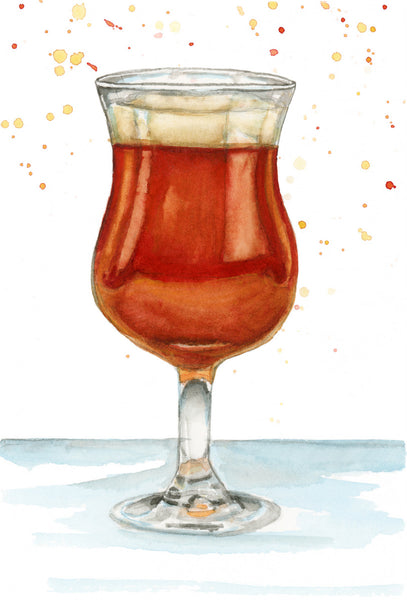 Red Ale Beer - Priscilla George Fine Art