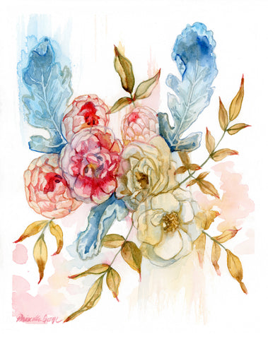 Faded Florals - Priscilla George Fine Art