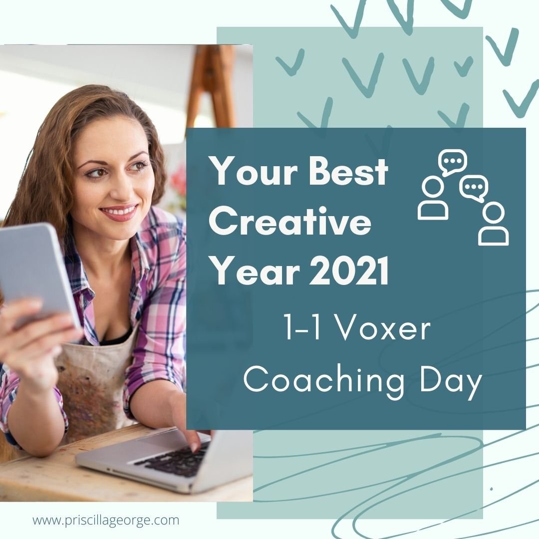 1-1 Voxer Coaching Day - Your Best Creative Year 2021