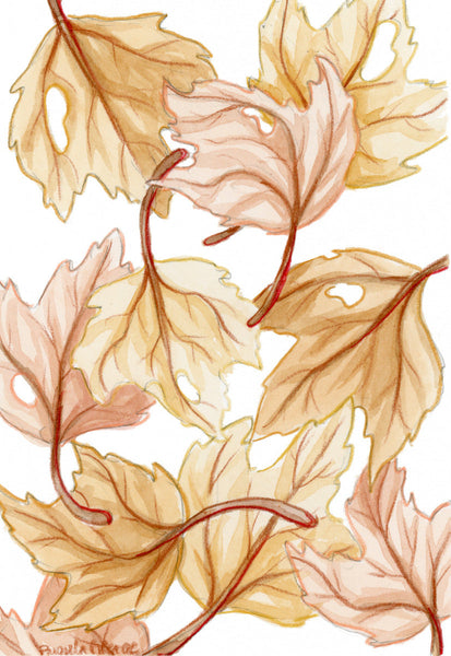 Ochre Fall Leaves - Priscilla George Fine Art