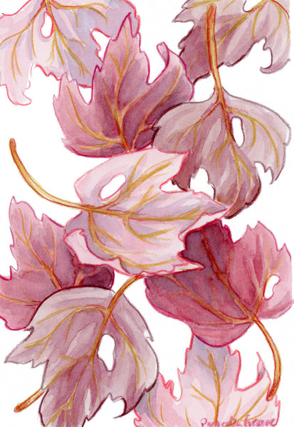 Red Leaves - Priscilla George Fine Art