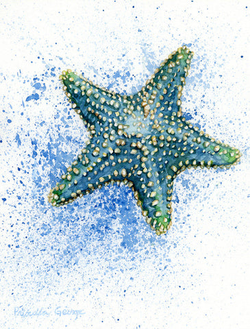 Blue Starfish - Priscilla George Fine Art
