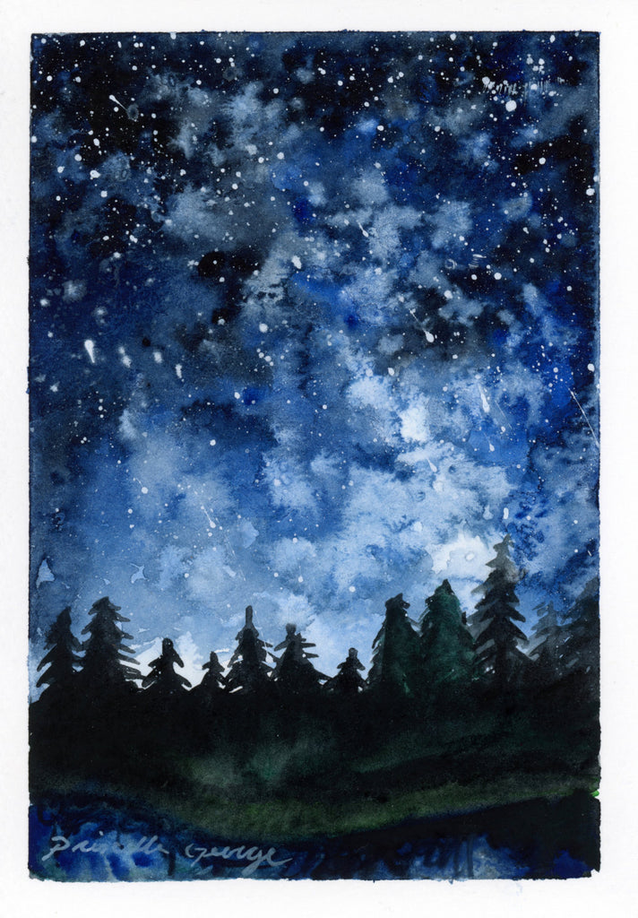 Forest Night - Priscilla George Fine Art