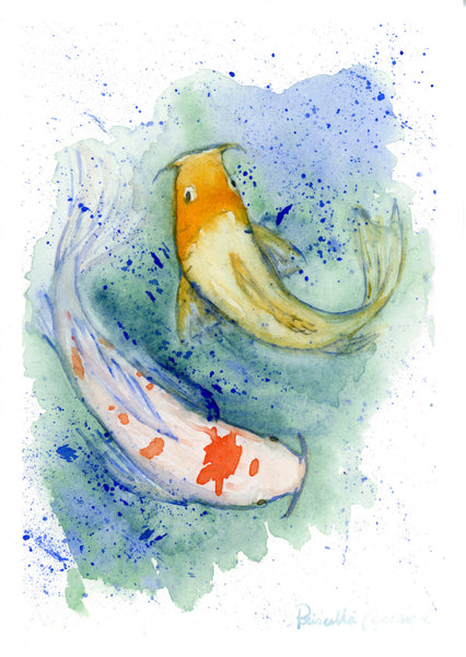 Two Koi Fish - Priscilla George Fine Art