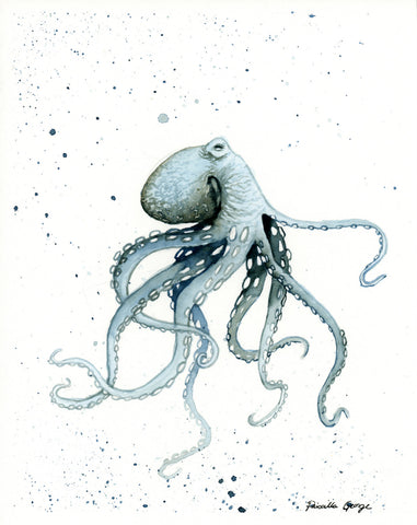 Blue Octopus - Priscilla George Fine Art