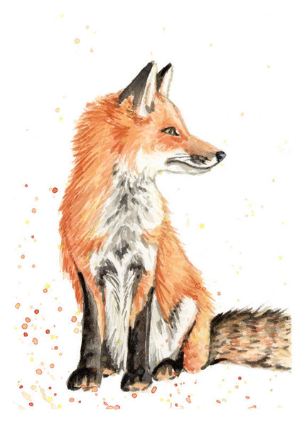 Sitting Fox - Priscilla George Fine Art