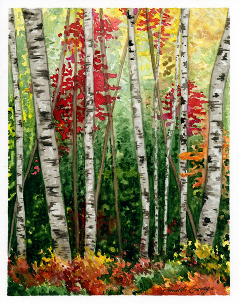 Fall Woods - Priscilla George Fine Art