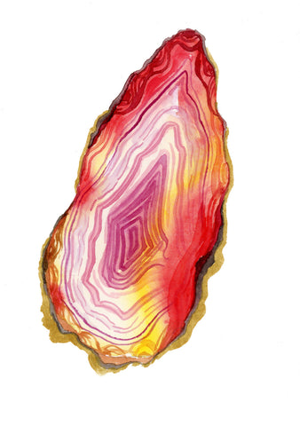 Red Agate Slice - Priscilla George Fine Art