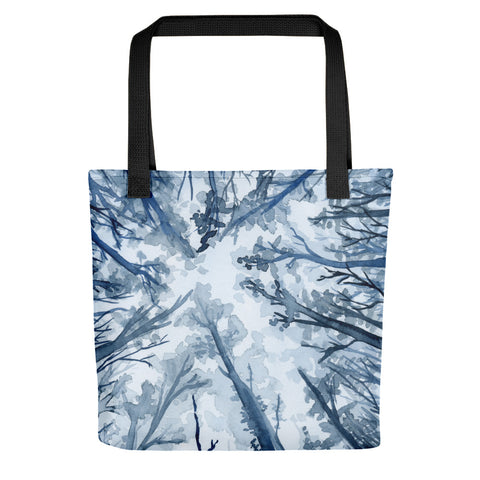 Blue Forest Tote Bag - Priscilla George Fine Art