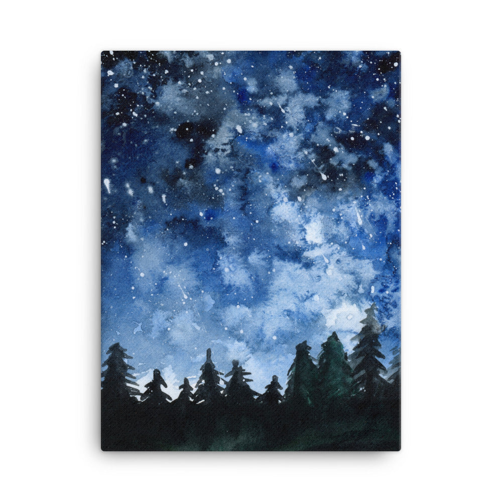 Forest Night Canvas Print - Priscilla George Fine Art