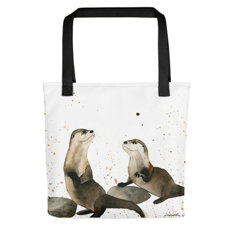 Otters Tote Bag - Priscilla George Fine Art