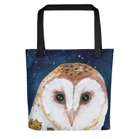 Barn Owl Tote Bag - Priscilla George Fine Art