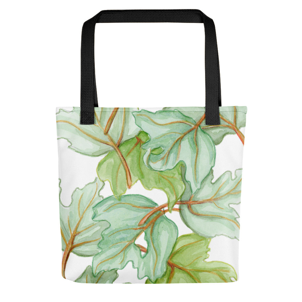 Green Leaves Tote bag - Priscilla George Fine Art