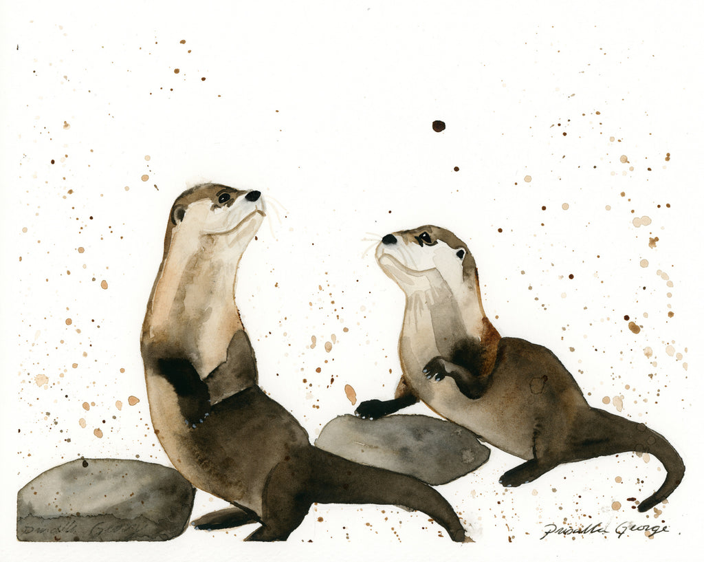 Otters - Priscilla George Fine Art