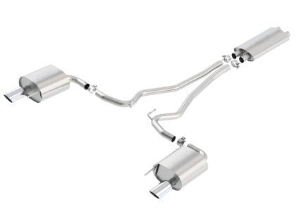 Borla Touring Cat Back 15-17 Ford Mustang 3.7L V6 MT/AT 2.25in Pipe 4in Single Round Rolled Tips 140586